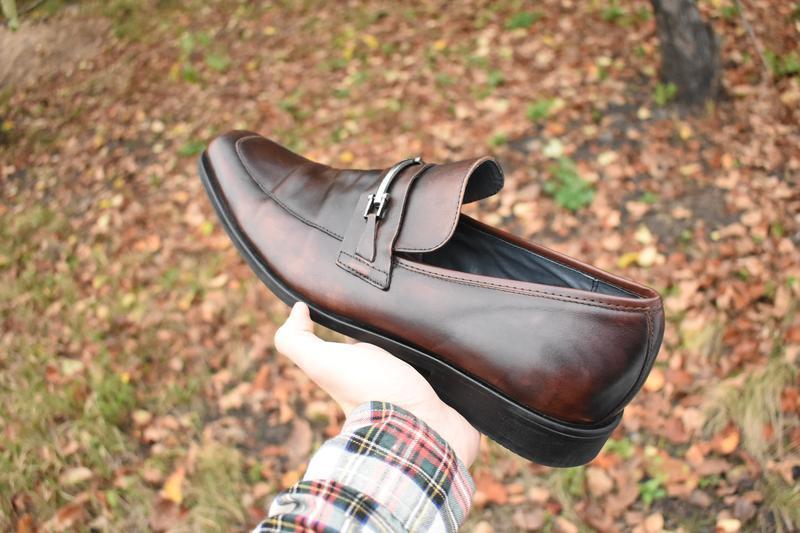 Steve madden оригинал мужские туфли лоферы коричневые кожаные ...