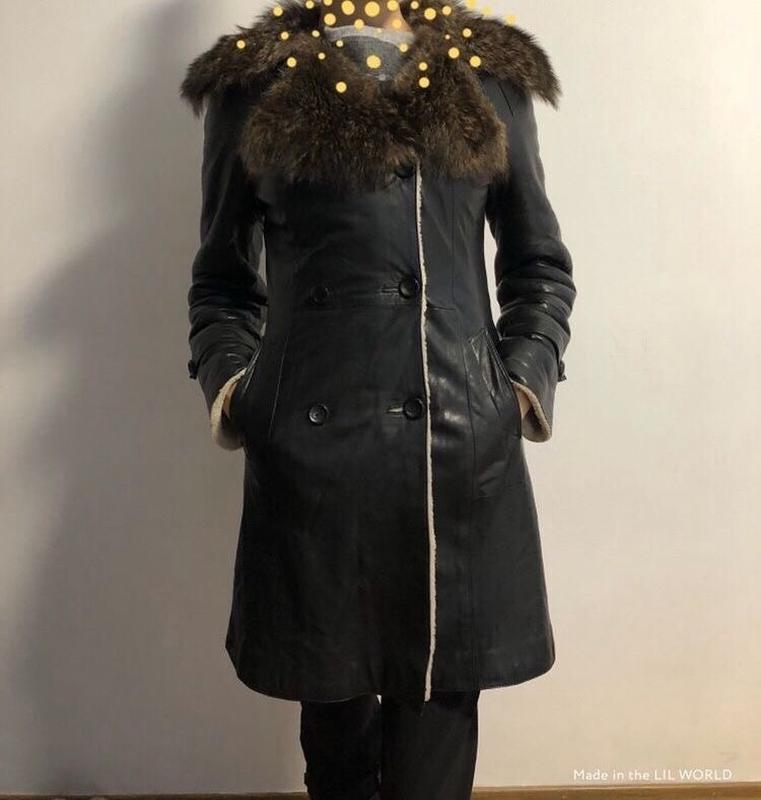 Натуральное зимнее кожаное пальто