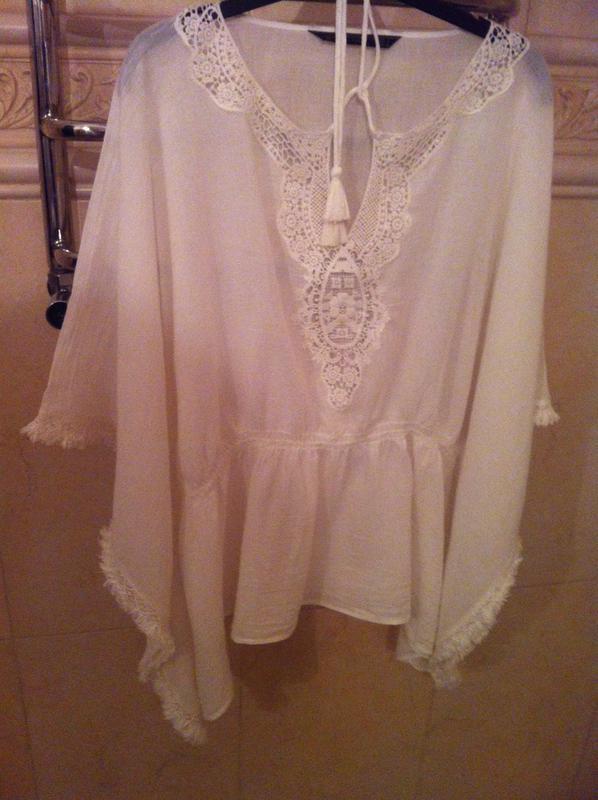 Zara блузка разлетайка