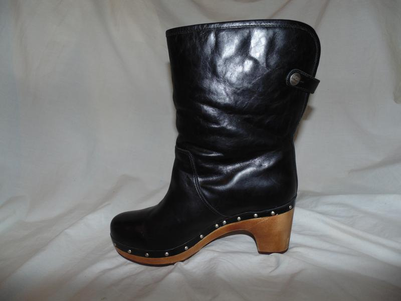 Сапоги ботинки женские ugg australia оригинал новые кожа и нат...