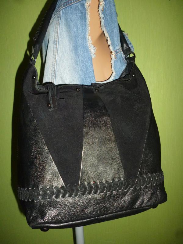 Стильная вместительная сумка из натуральной кожи hotter - Фото 5