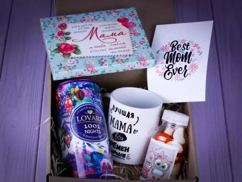 Подарочный набор для мамы любимой девушки шоколад чай кружка - Фото 5