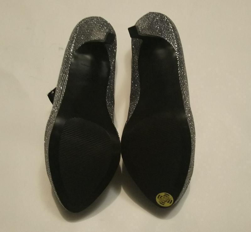 Нарядные туфли серебро (чешуя) - Фото 3