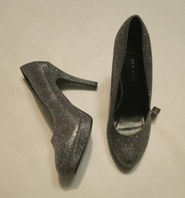 Нарядные туфли серебро (чешуя) - Фото 4