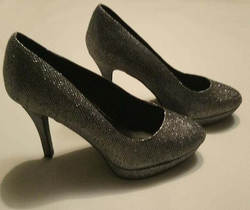 Нарядные туфли серебро (чешуя) - Фото 5