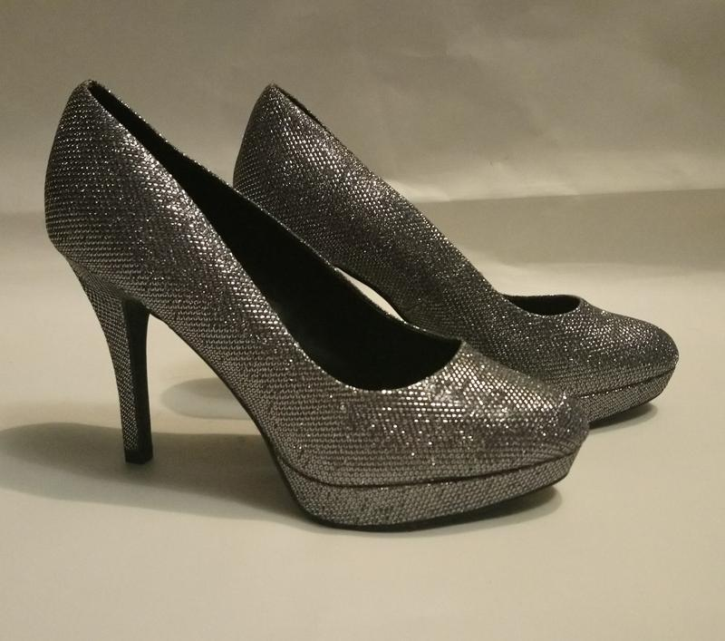 Нарядные туфли серебро (чешуя) - Фото 6