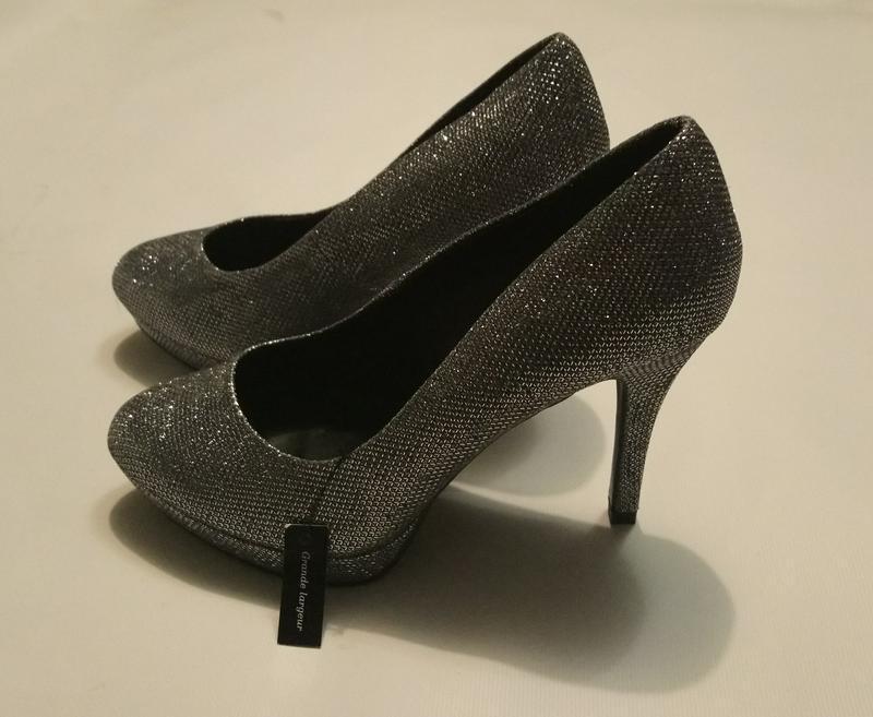 Нарядные туфли серебро (чешуя) - Фото 7