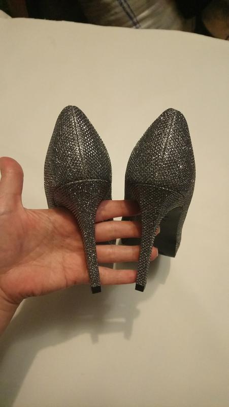 Нарядные туфли серебро (чешуя) - Фото 8
