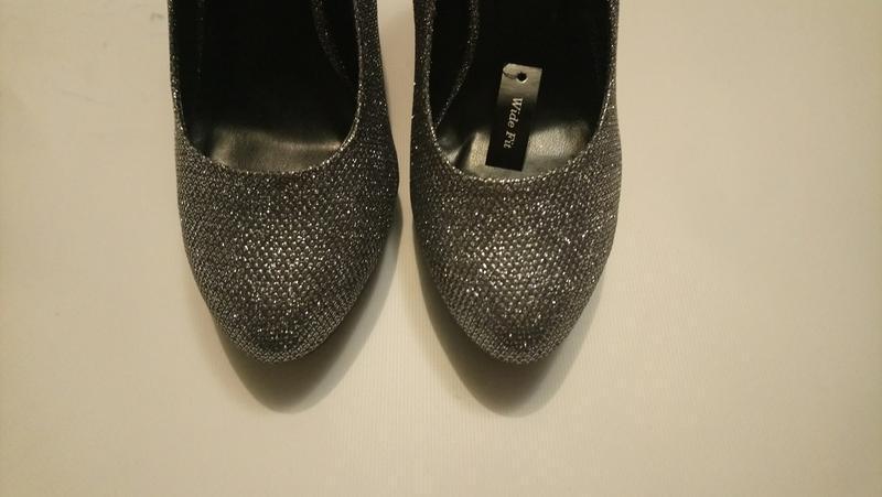 Нарядные туфли серебро (чешуя) - Фото 9