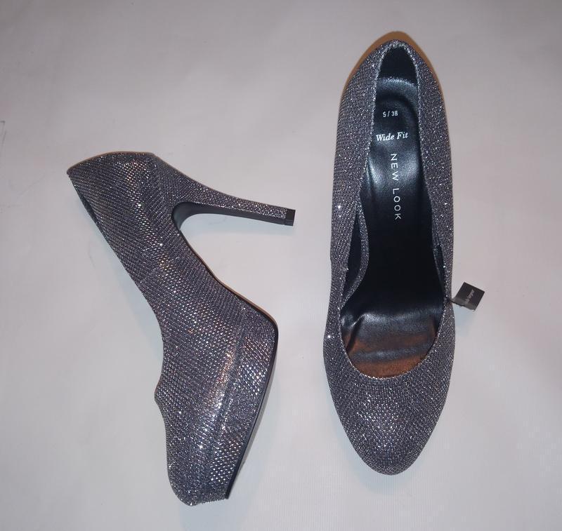 Нарядные туфли серебро (чешуя) - Фото 10