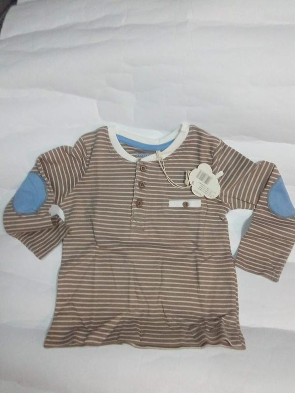 Детские реглан-футболка мальчику от 0-24 месяцев
