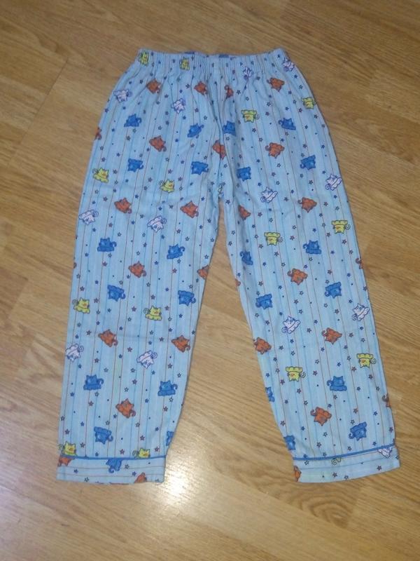 Пижамные байковые штаны 3-4 года