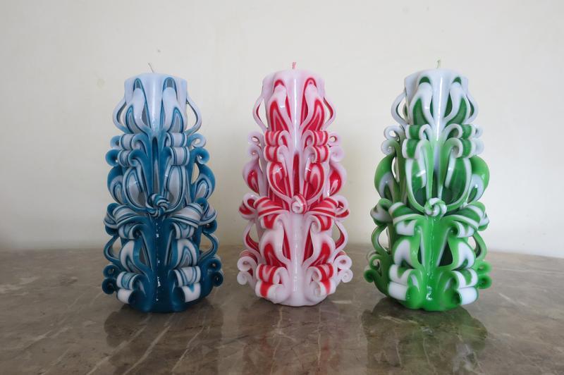 Резные свечи ручной работы - Фото 3