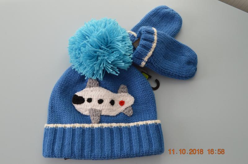 Новий комплект - шапка і рукавички next розм. 1-2 р. в наявності