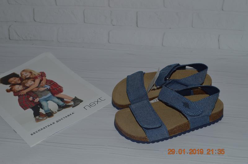 Нові джинсові сандалі next розм. 10 (28) в наявності