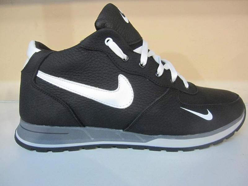 Мужские кожаные зимние ботинки/кроссовки nice обувь сезона зим...