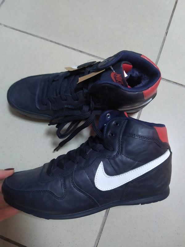 Мужские зимние кожа ботинки