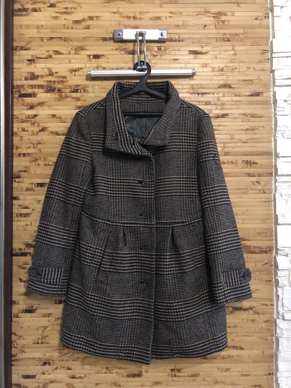 Фирменное люксовое брендовое пальто  тренч плащ calvin klein