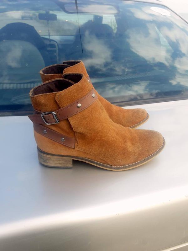 Натуральные челси натур замша + кожа ботинки, болитьоны