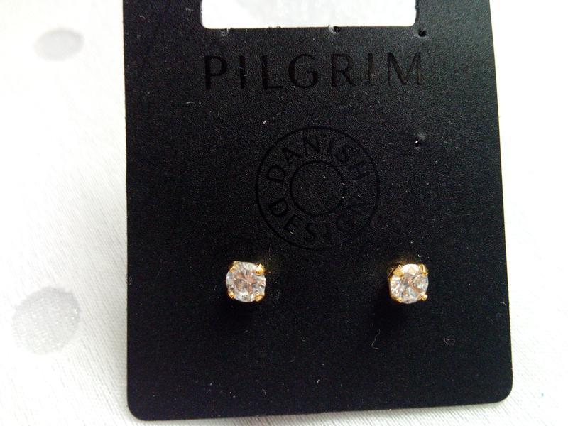 Pilgrim, original серьги со стразами сваровски