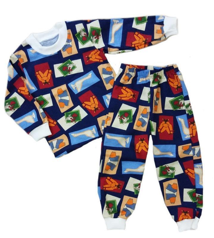 """Пижама детская темно-синяя """"ганс"""""""