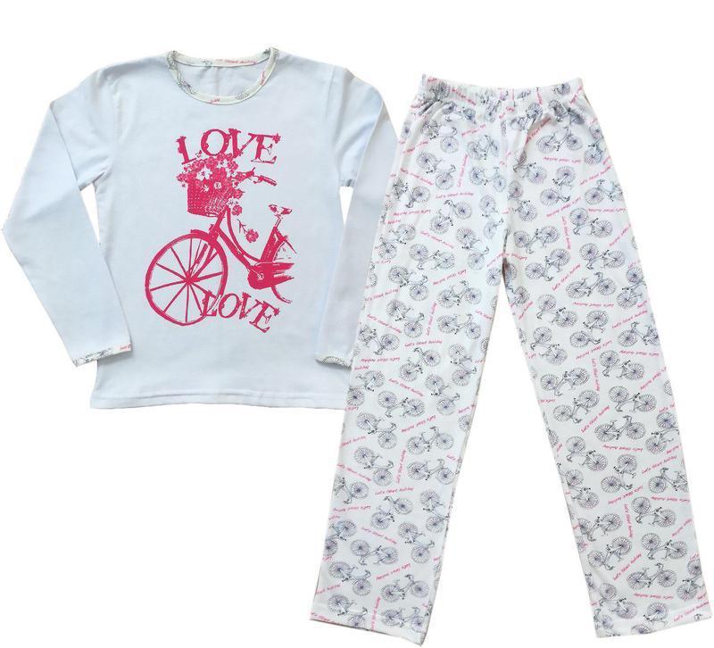 """Пижама подростковая для девочки """"велосипед"""""""