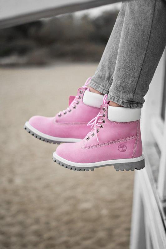 Классные женские ботинки 💪 timberland pink (термо)💪