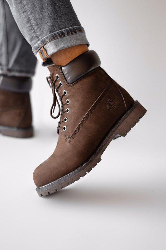 Прекрасные ботинки мужские 💪timberland brown ( на меху)💪