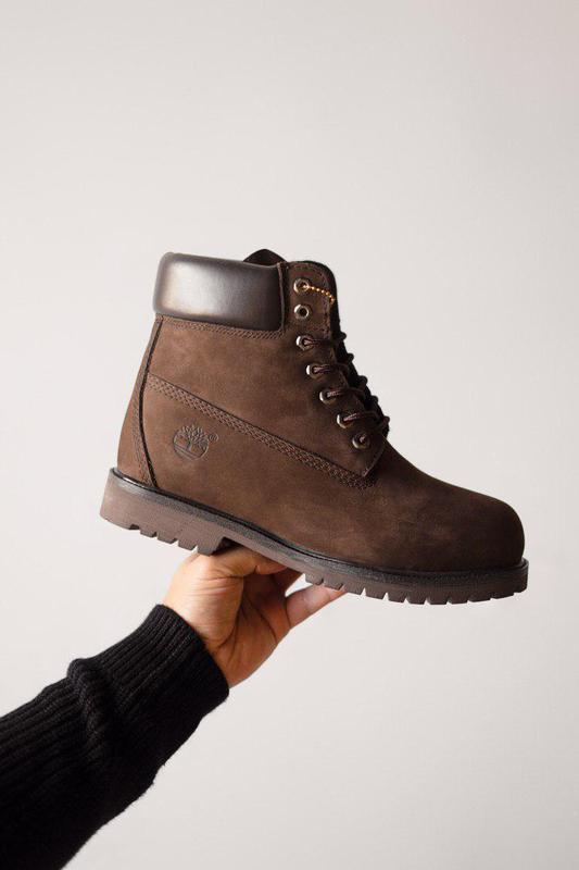 Прекрасные ботинки мужские 💪timberland brown ( на меху)💪 - Фото 2