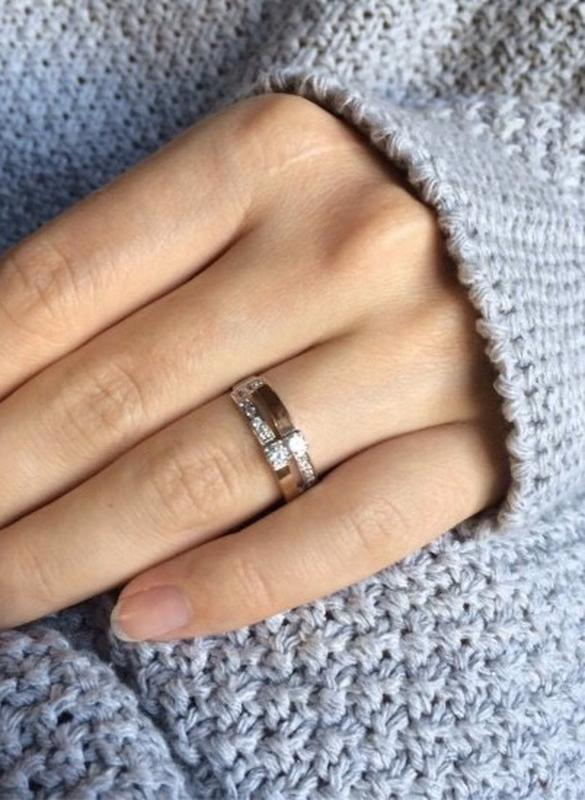 Кольцо серебряное с золотом 676