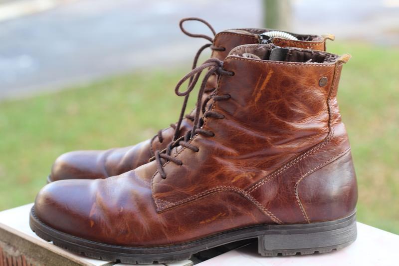 Стильные кожаные ботинки jack&jones 44-45
