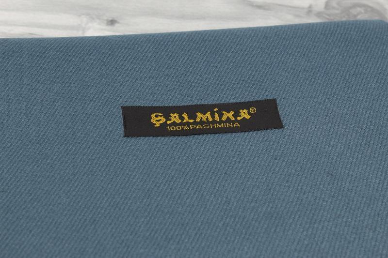 Нежный кашемировый шарф, палантин cashmere 7480-11 джинсовый, ... - Фото 3