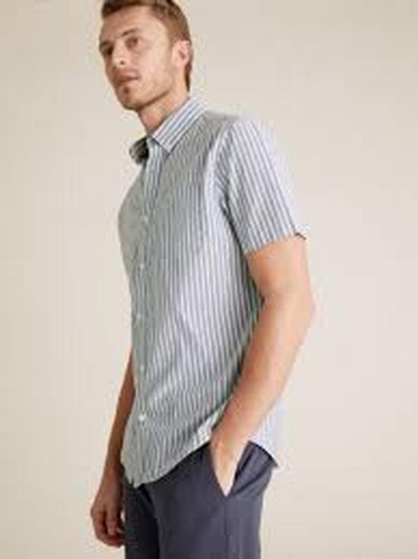 Рубашка сорочка мужская с коротким рукавом