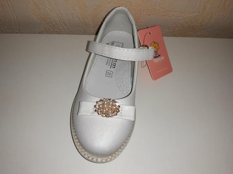 Серебристые туфли на девочку 23-32 р tom.m