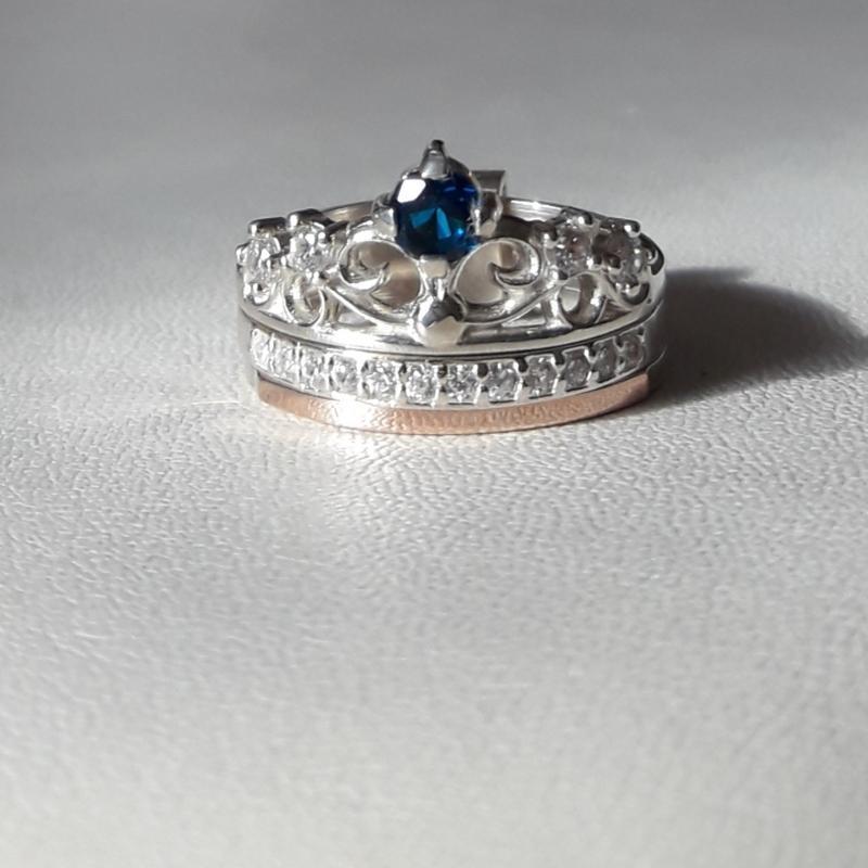💍 кольцо серебро