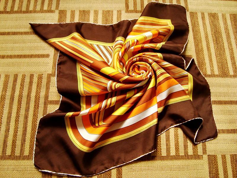 Claude Boissy Paris, 100% шелк, винтажный платок.