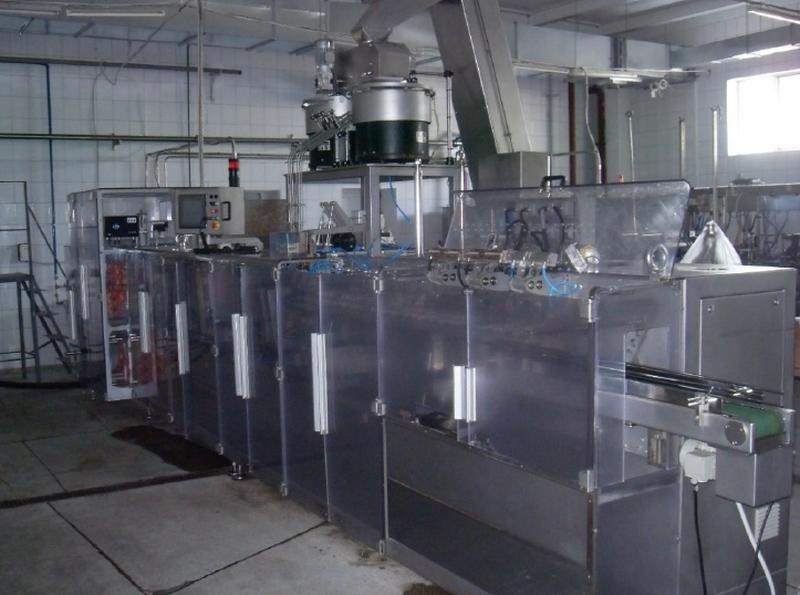 Горизонтальная дуплексная машина для упаковки в дой-пак