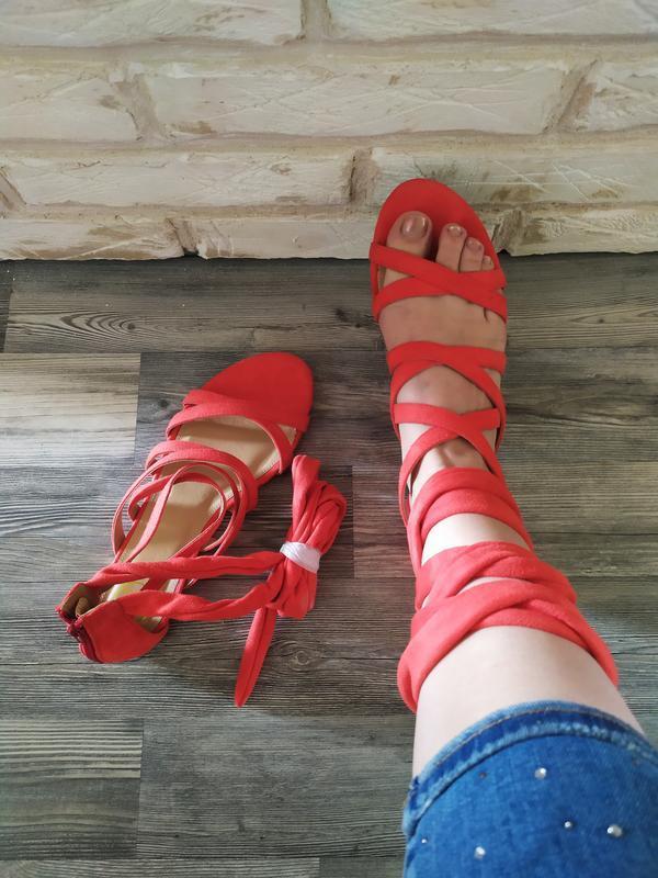 Шикарные новые босоножки сандалии гладиаторы - Фото 7