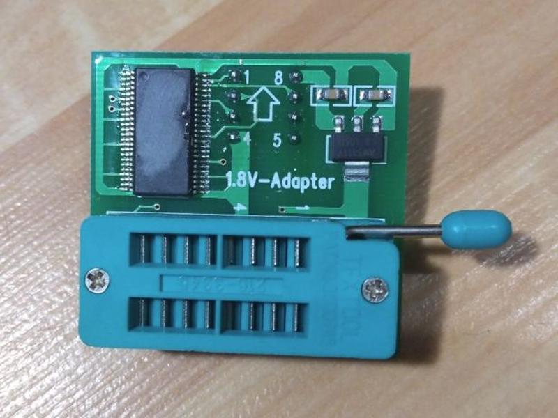 Адаптер колодка для программатора 1.8V SPI SOP8 DIP8 W25 MX25 ...