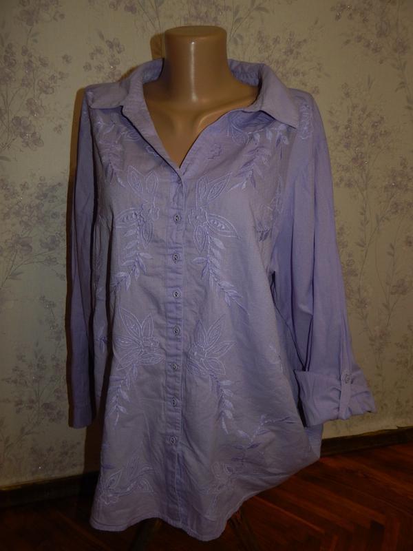 Marks&spencer блузка батистовая стильная модная р20 большой ра...