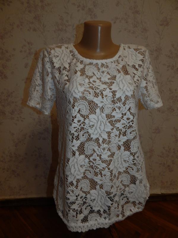 George блузка кружевная стильная модная р8 новая