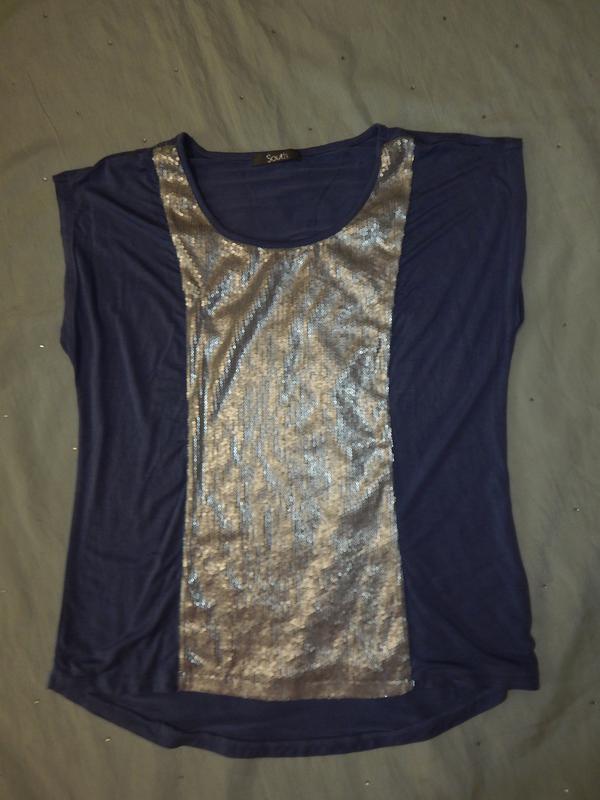 South блузка вискозная стильная модная р14 - Фото 4