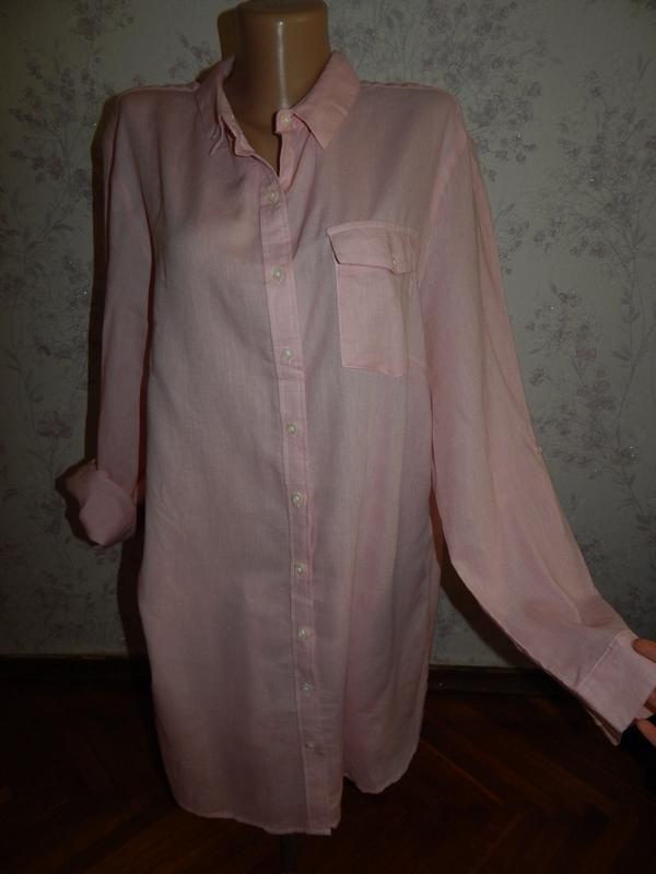 Atmosphere халат-рубашка трикотажный домашний р20 большой размер