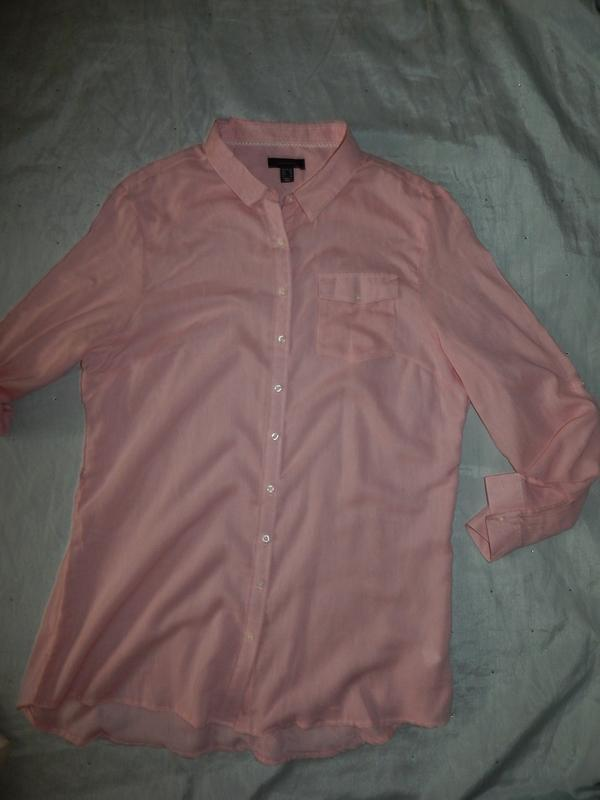 Atmosphere халат-рубашка трикотажный домашний р20 большой размер - Фото 3