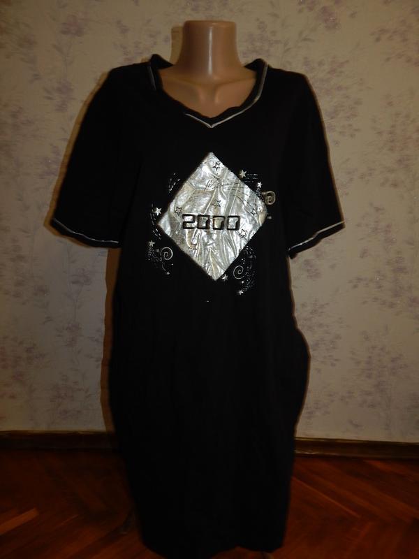 Matalan ночнушка трикотажная, домашнее платьеце р12 полномерный