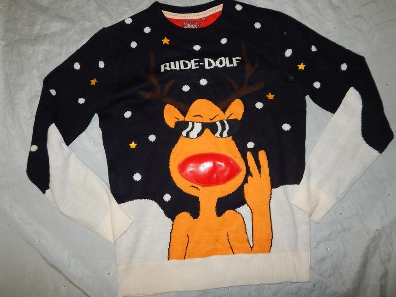 Brave soul свитер новогодний с оленем мужской рм новый - Фото 2