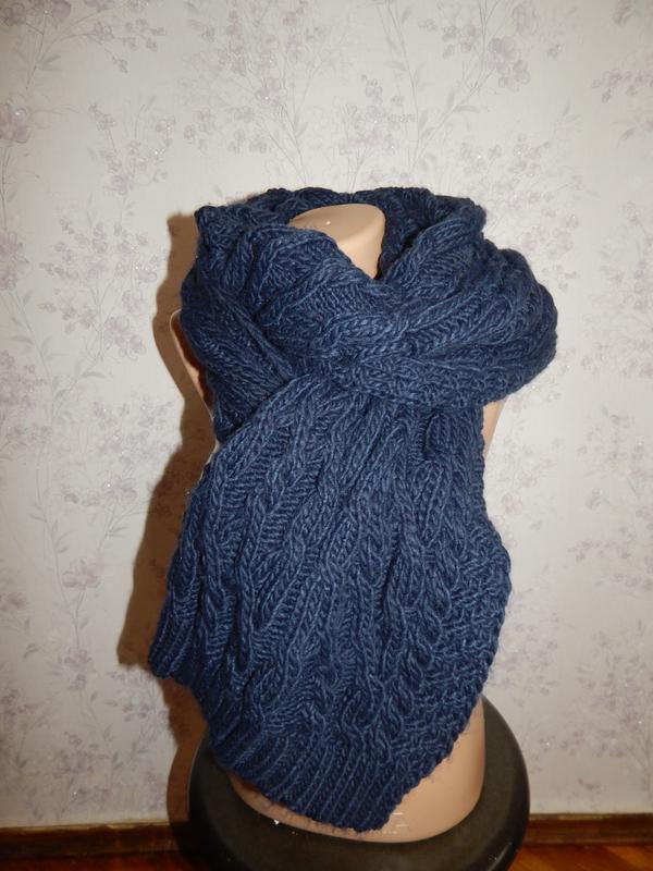 Warehouse шарф вязаный тёплый стильный модный
