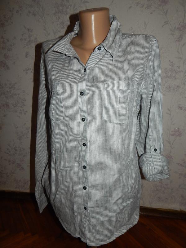 Marks&spencer блузка льняная стильная модная р14