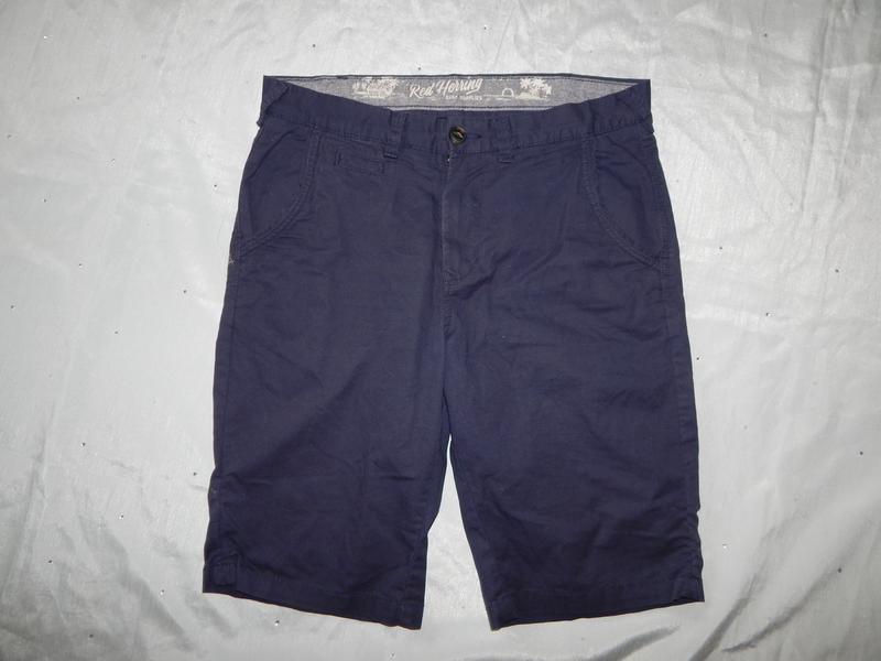 Debenhams шорты мужские котоновые синие стильные модные р32