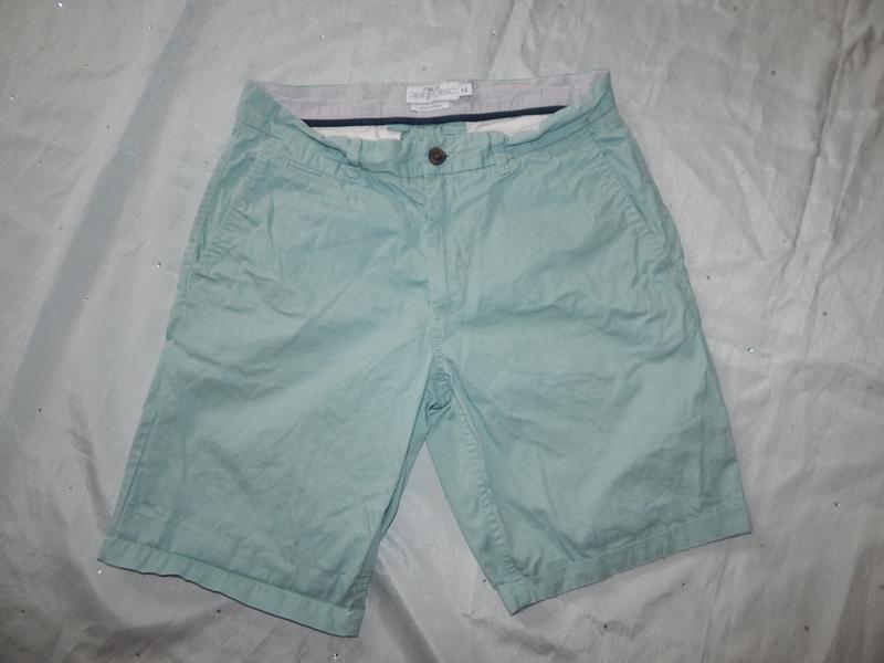 Next шорты мужские котоновые голубые стильные модные р32 chino